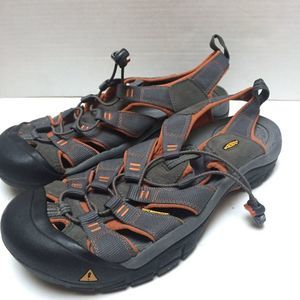 KEEN Sz 11 Orange Gray  Sandals Shoes